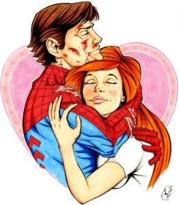 super héros et leurs relations illustration