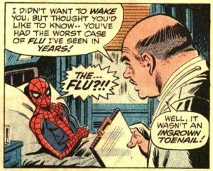 super héros malade exemple de spiderman