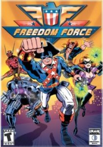 Jeux vidéo de super héros couverture Freedom Force