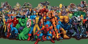 personnages marvel illustrés