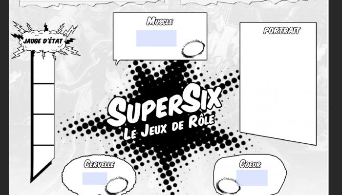 supersix fiche de personnage capture d'écran