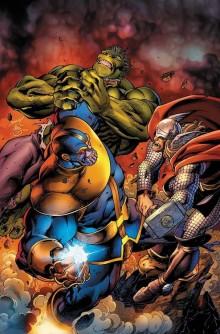 plusieurs super héros contre thanos