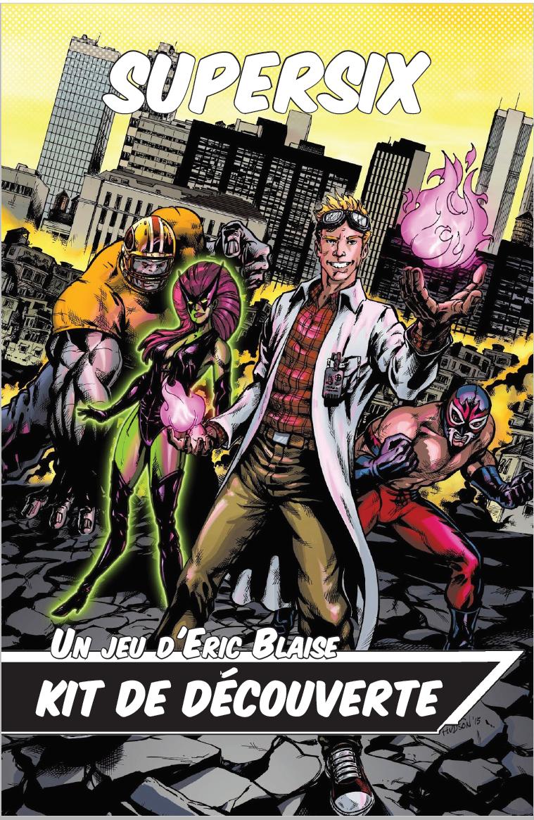 Kit de découverte de SuperSix le jdr de super héros